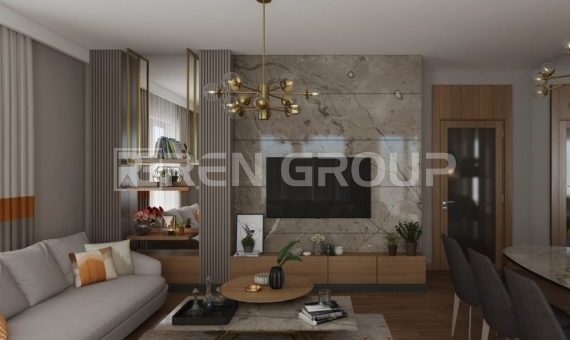 Newly built duplex apartments in Istanbul