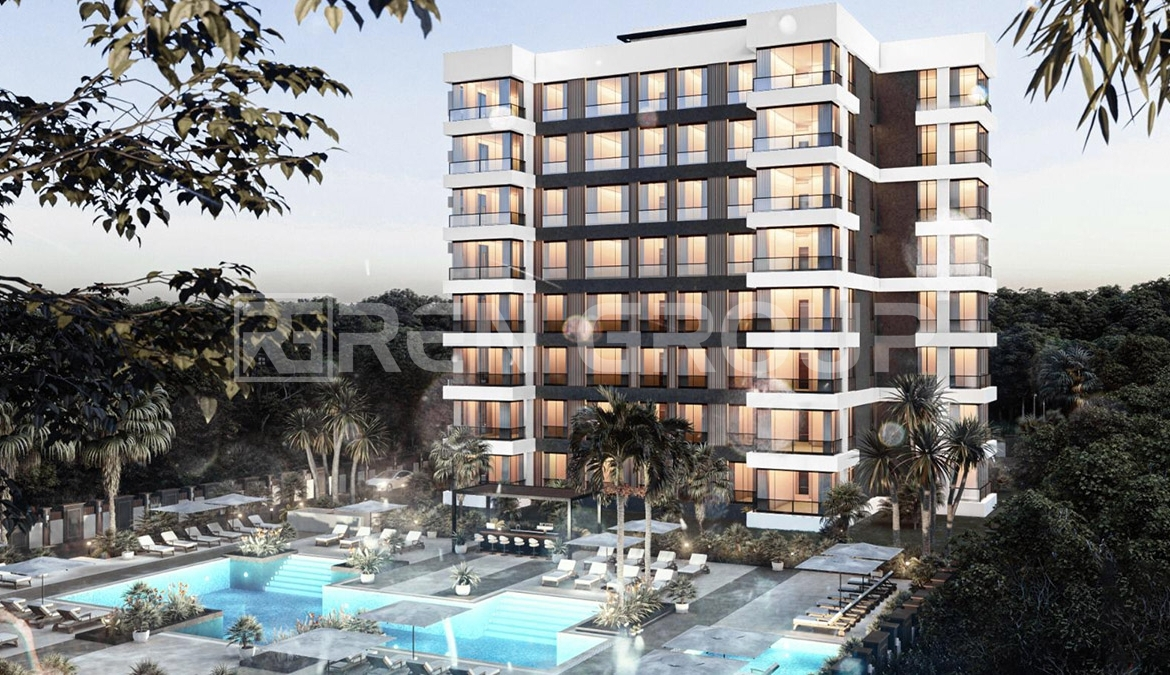 Cheap installment apartments for sale in Aksu Antalya