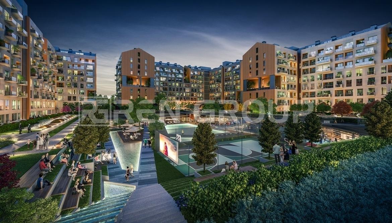 آپارتمان های مدرن نزدیک به بندر تفریحی در اسن یورت استانبول