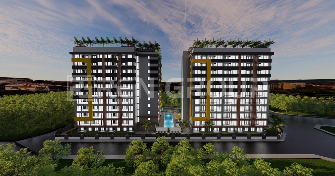 Well-built apartments in Aksu Antalya with rooftop pool