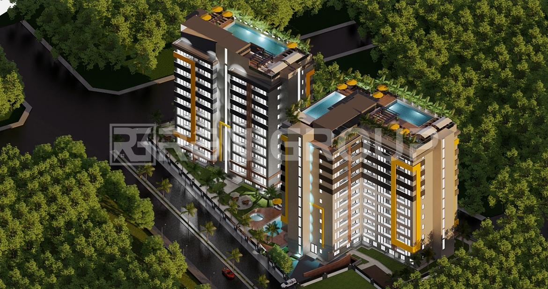 آپارتمان های خوش ساخت در آکسو آنتالیا با استخر روی پشت بام
