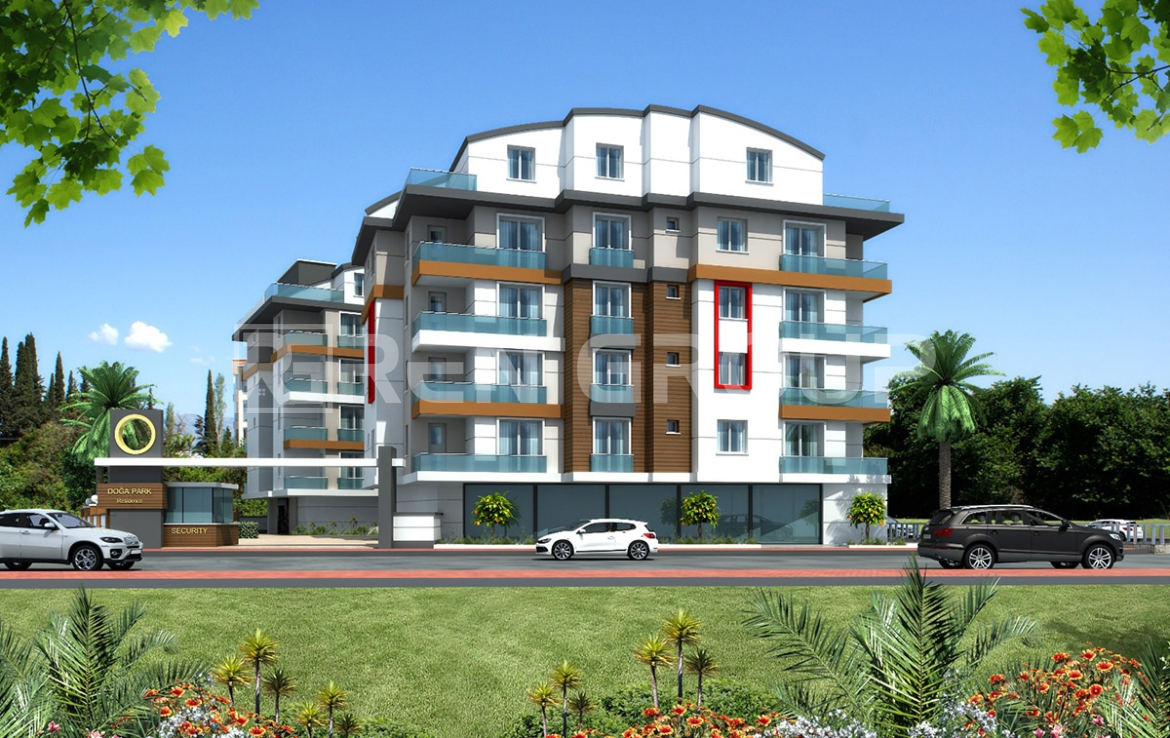 New built apartments in Hurma, close to the port of Antalya