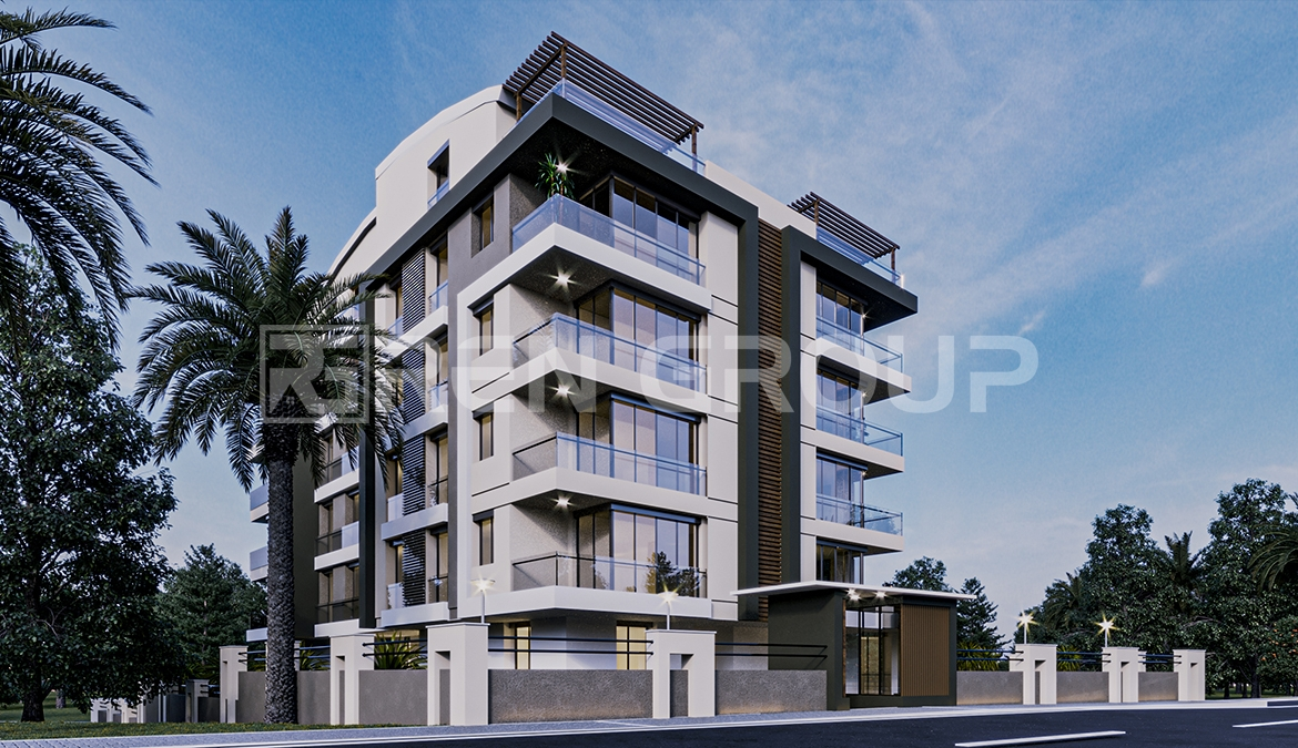 Newly built houses for sale in Konyaalti Antalya, with excellent design