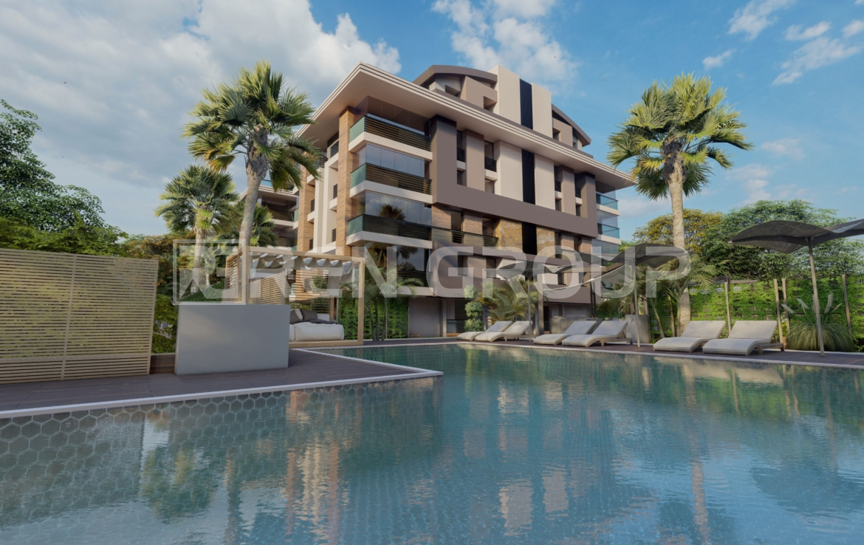 آپارتمان های با طراحی مدرن، پارکینگ و استخر در کنیالتی