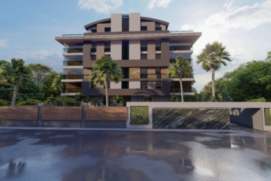 Modernly designed apartments, parking and swimming pool in Konyaalti
