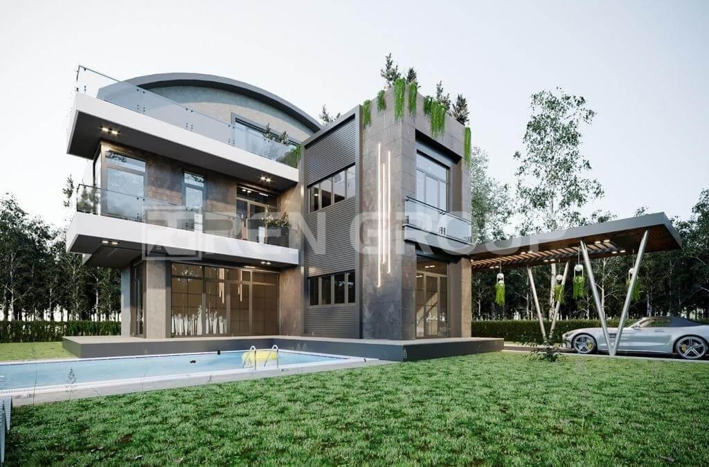 Triplex detached villas with private pool in Belek Antalya